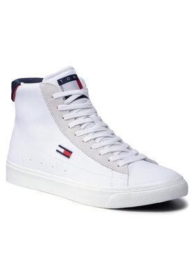 Tommy Jeans Tommy Jeans Sneakersy Retro Vulc High Tjm Leather EM0EM00805 Biela