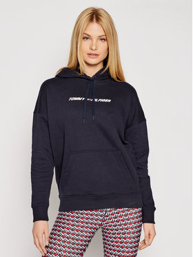 Tommy Hilfiger Tommy Hilfiger Sweatshirt Graphic Hoodie Ls S10S100980 Bleu marine Relaxed Fit