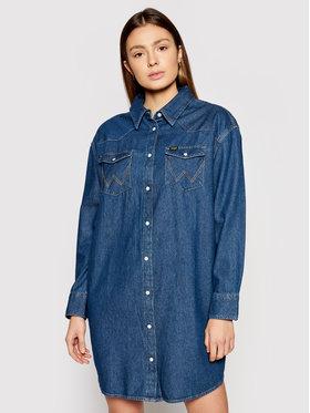 Wrangler Wrangler Sukienka jeansowa Western W9P6LWX8E Granatowy Relaxed Fit