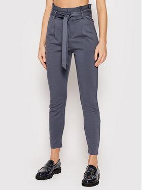 Vero Moda Vero Moda Kalhoty z materiálu Eva 10205932 Šedá Loose Fit