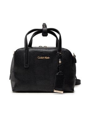 Calvin Klein Calvin Klein Дамска чанта Ck Must Bowling Bag Sm Lizard K60K608572 Черен