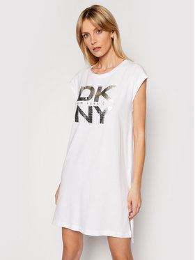 DKNY DKNY Kleid für den Alltag P11UIDFI Weiß Regular Fit