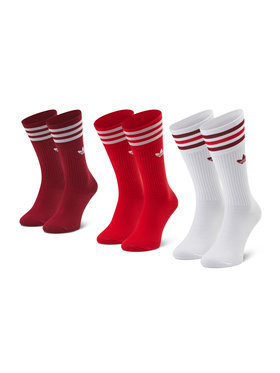 adidas adidas Súprava 3 párov vysokých ponožiek unisex Solid Crew Sock GN3073 Farebná