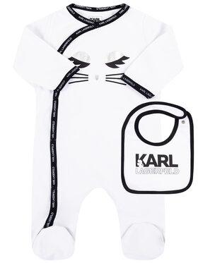 Karl Lagerfeld Karl Lagerfeld Komplektas: šliaužtinukai ir seilinukas Z98053