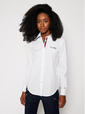TOMMY HILFIGER TOMMY HILFIGER Camicia Beth Heritage WW0WW29198 Bianco Relaxed Fit
