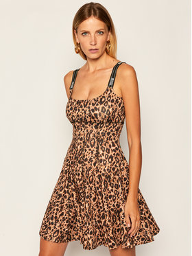 Versace Jeans Couture Versace Jeans Couture Vasarinė suknelė D2HZA412 Ruda Regular Fit