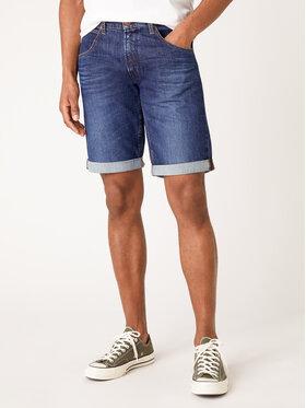 Wrangler Wrangler Szorty jeansowe Colton W15VP111L Granatowy Slim Fit