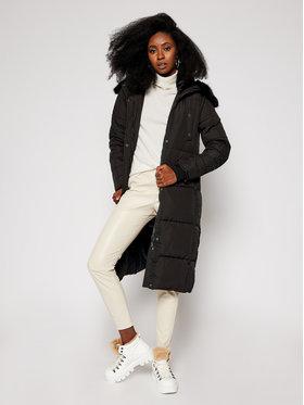 Desigual Desigual Žieminis paltas Katia 20WWEWB3 Juoda Straight Fit