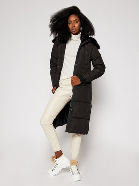 Desigual Desigual Zimný kabát Katia 20WWEWB3 Čierna Straight Fit