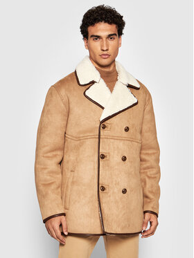 Guess Guess Cappotto in shearling M1BL02 R0880 Beige Regular Fit