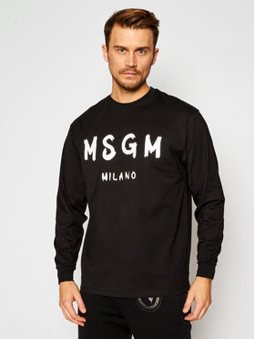MSGM MSGM Majica dugih rukava 2940MM105 207598 Crna Regular Fit