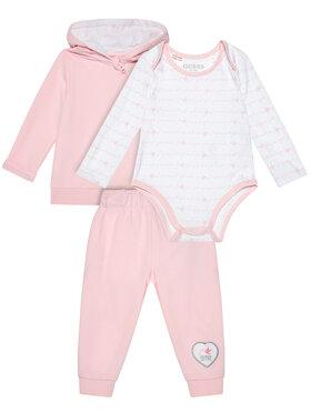 Guess Guess Σετ μπλούζα, κορμάκι και παντελόνι φόρμας S0BG04 KA960 Ροζ Regular Fit