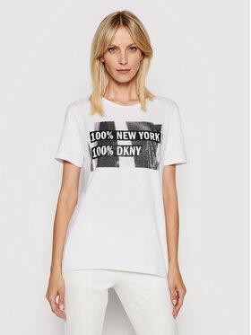 DKNY DKNY Póló P02HBCNA Fehér Regular Fit