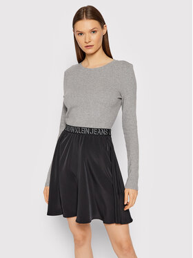 Calvin Klein Jeans Calvin Klein Jeans Плетена рокля J20J216717 Сив Regular Fit