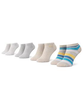 QUAZI QUAZI Lot de 4 paires de chaussettes basses femme QZ-SOCKS-65-04-WOMAN-008 Beige