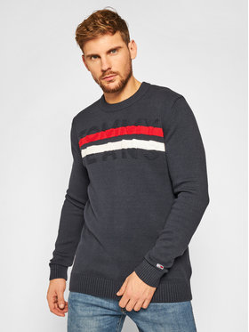 Tommy Jeans Tommy Jeans Pulover Block Stripe DM0DM09465 Bleumarin Regular Fit