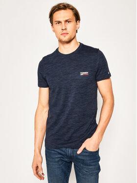 Tommy Jeans Tommy Jeans Marškinėliai Tjm Texture Logo DM0DM07813 Tamsiai mėlyna Regular Fit