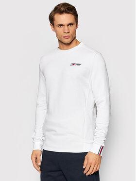 Tommy Hilfiger Tommy Hilfiger Sweatshirt Logo Fleece Crew MW0MW19774 Weiß Regular Fit