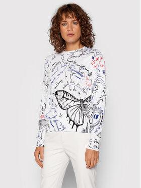 Desigual Desigual Пуловер Boston 21WWJF77 Бял Regular Fit