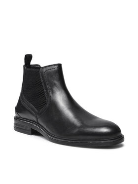 Pepe Jeans Pepe Jeans Kotníková obuv s elastickým prvkem Oregon Chelsea PMS50211 Černá