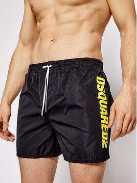 Dsquared2 Dsquared2 Plavecké šortky Boxer Midi D7B642920.01454 Čierna Regular Fit
