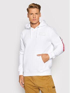 Alpha Industries Alpha Industries Sweatshirt Red Stripe 178314 Blanc Regular Fit