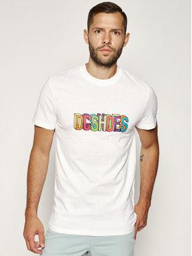 DC DC T-Shirt Color Blocks EDYZT04086 Biały Regular Fit