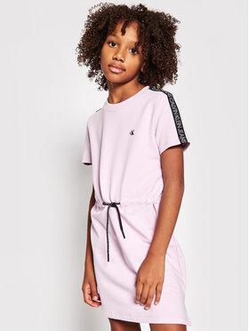 Calvin Klein Jeans Calvin Klein Jeans Rochie de zi Logo Tape IG0IG00807 Violet Regular Fit
