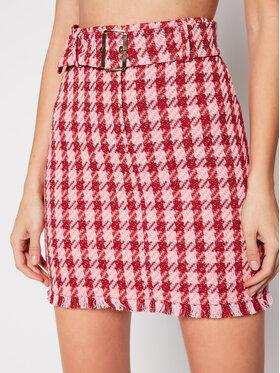 Pinko Pinko Mini sijonas PE 21 BLK01 1G15QT 8420 Rožinė Slim Fit