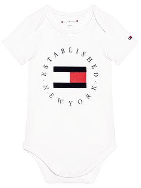 Tommy Hilfiger Tommy Hilfiger Body da neonato Established KN0KN01289 Bianco Regular Fit