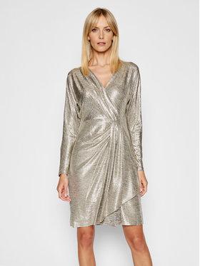 Lauren Ralph Lauren Lauren Ralph Lauren Sukienka koktajlowa 253816865001 Złoty Slim Fit