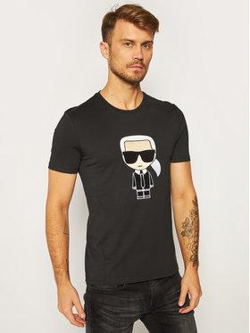 KARL LAGERFELD KARL LAGERFELD T-Shirt Crewneck 755060 502250 Czarny Regular Fit