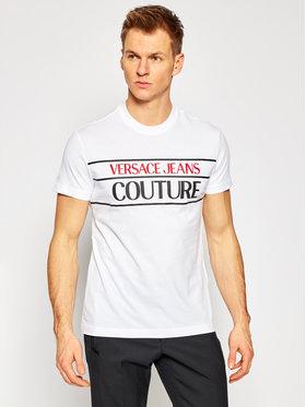 Versace Jeans Couture Versace Jeans Couture T-Shirt B3GWA7TC Bílá Slim Fit