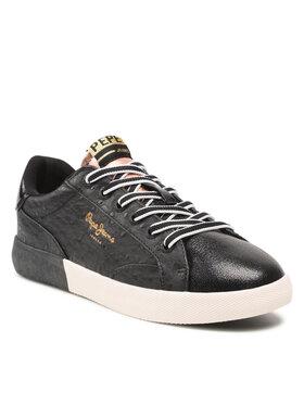 Pepe Jeans Pepe Jeans Sneakersy Kioto Astrid PLS31237 Černá