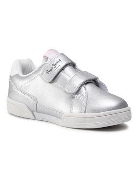 Pepe Jeans Pepe Jeans Sneakersy Lambert Basic Metal PGS30465 Stříbrná