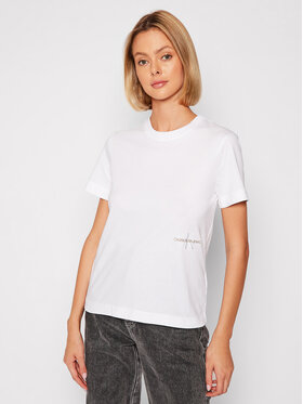 Calvin Klein Jeans Calvin Klein Jeans T-Shirt J20J216469 Bílá Regular Fit