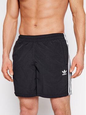 adidas adidas Pantaloni scurți pentru înot adicolor Classics 3-Stripes GN3523 Negru Regular Fit