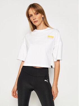 Puma Puma T-Shirt PEANUTS W Tee 531158 Bílá Loose Fit