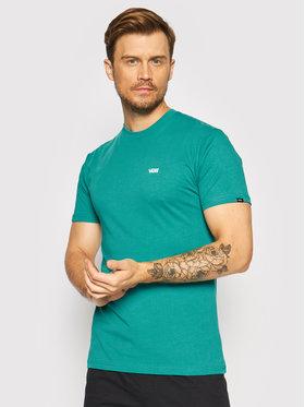 Vans Vans T-Shirt Left Chest Logo VN0A3CZE Zielony Classic Fit