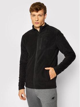 4F 4F Fliso džemperis NOSH4-PLM003 Juoda Regular Fit