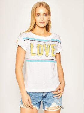 LOVE MOSCHINO LOVE MOSCHINO Tričko W4F301WM 3876 Biela Regular Fit