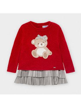 Mayoral Mayoral Komplektas: megztinis ir suknelė 2948 Raudona Regular Fit