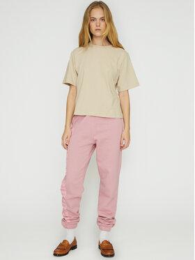 ROTATE ROTATE Spodnie dresowe Mimi RT472 Różowy Loose Fit