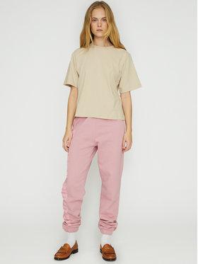 ROTATE ROTATE Teplákové nohavice Mimi RT472 Ružová Loose Fit