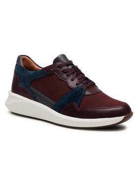 Clarks Clarks Sneakers Un Rio Run 261554134 Bordeaux