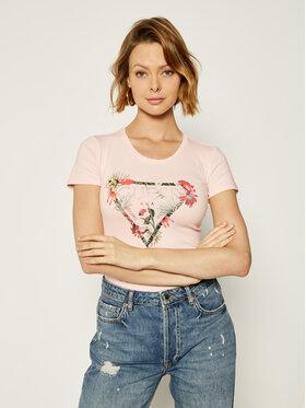 Guess Guess Marškinėliai Rose W0GI33 J1300 Rožinė Regular Fit