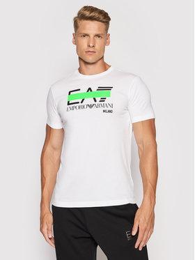 EA7 Emporio Armani EA7 Emporio Armani T-Shirt 3KPT32 PJ7CZ 1100 Biały Regular Fit