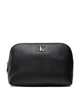 Calvin Klein Jeans Calvin Klein Jeans Kosmetický kufřík Minimal Monogram Make Up Bag K60K608403 Černá