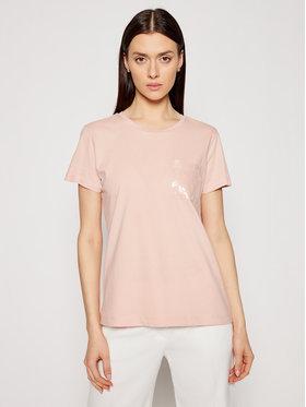 DKNY DKNY Marškinėliai P0RAOC2R Rožinė Regular Fit