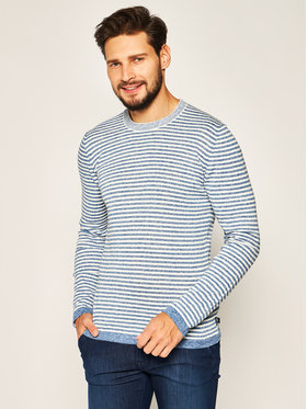 Trussardi Jeans Trussardi Jeans Pull Round Neck With Stripes 52M00328 Multicolore Regular Fit